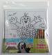 Puzzle coloring set KRECIK