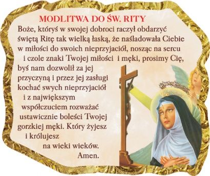 Magnes Modlitwa Do św Rity Okolicznościowe Na Różne Okazje